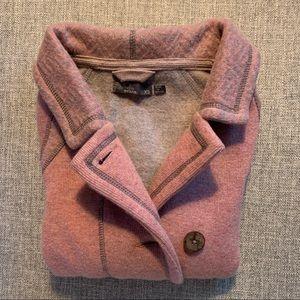 NWOT Heathered pink and gray Prana sweater coat